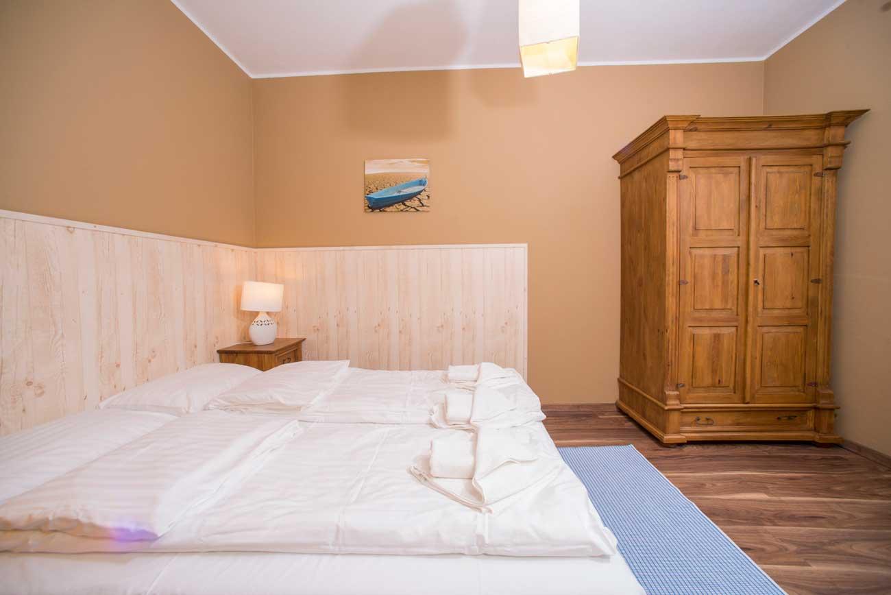Sypialnia w Apartamencie Muszelka , nad morzem