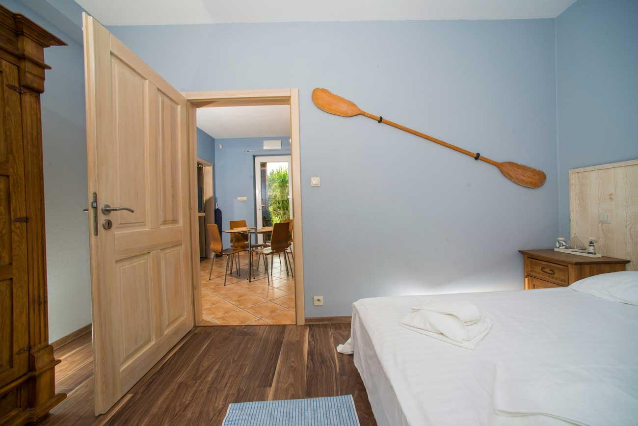 Sypialnia w Apartamencie Pirania , do wynajęcia
