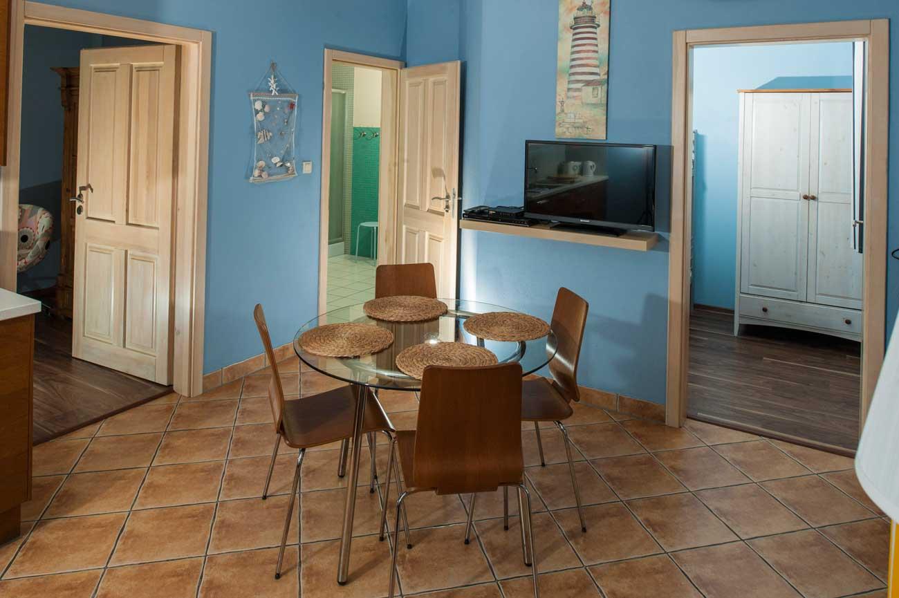 Widok na pokoje w Apartamencie Pirania , do wynajęcia