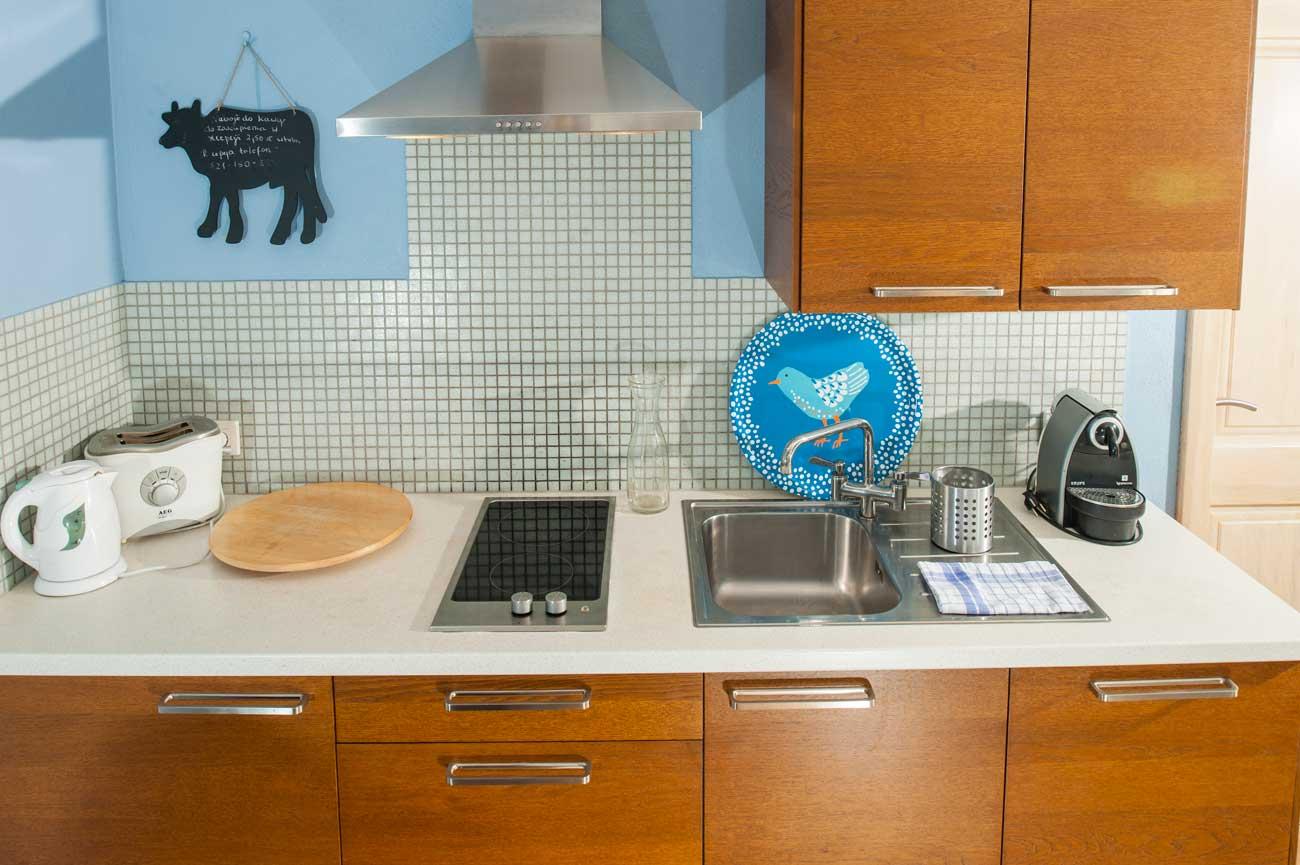 Widok na aneks kuchenny w Apartamencie Pirania , do wynajęcia