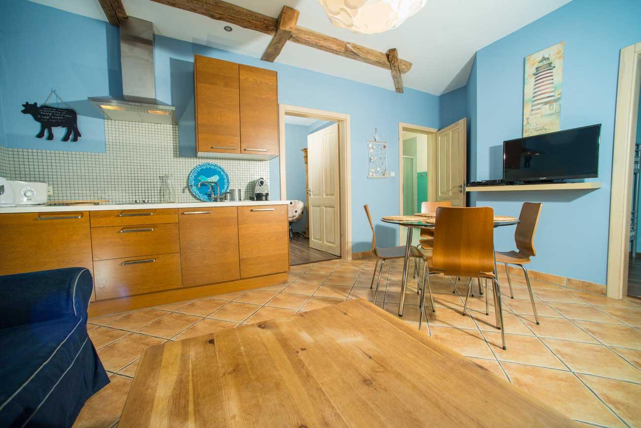 Widok na salon w Apartamencie Pirania